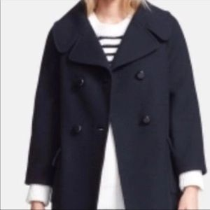 Kate Spade Rare Jaques Double Breasted Peacoat 4